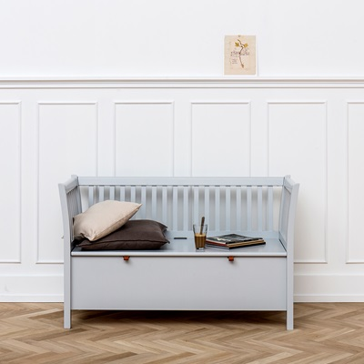 Small Bench In Seaside Grey - Hallway Storage | Cuckooland