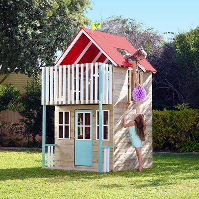 TP TOYS WEYMOUTH PAINTED WOODEN PLAYHOUSE