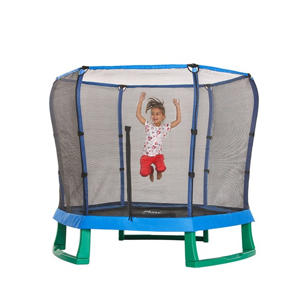 Plum 7ft Junior Jumper Trampoline in Green and Blue
