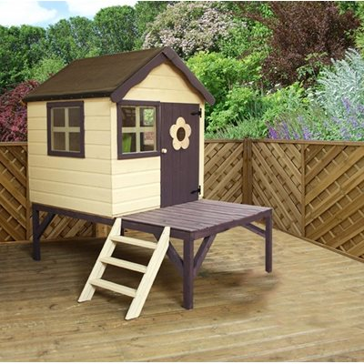 MERCIA KIDS PINE SNUG PLAYHOUSE with Tower