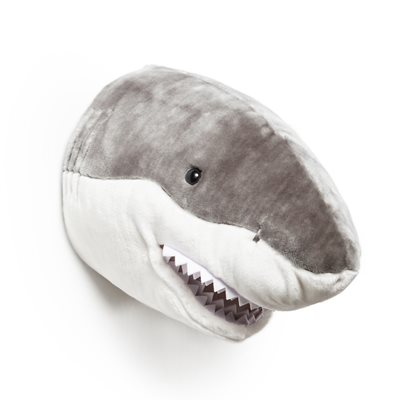 KIDS SHARK PLUSH ANIMAL HEAD WALL DECOR