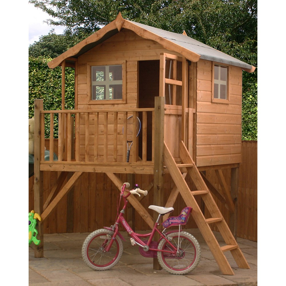 Mercia Kids Poppy Wooden Playhouse With Tower