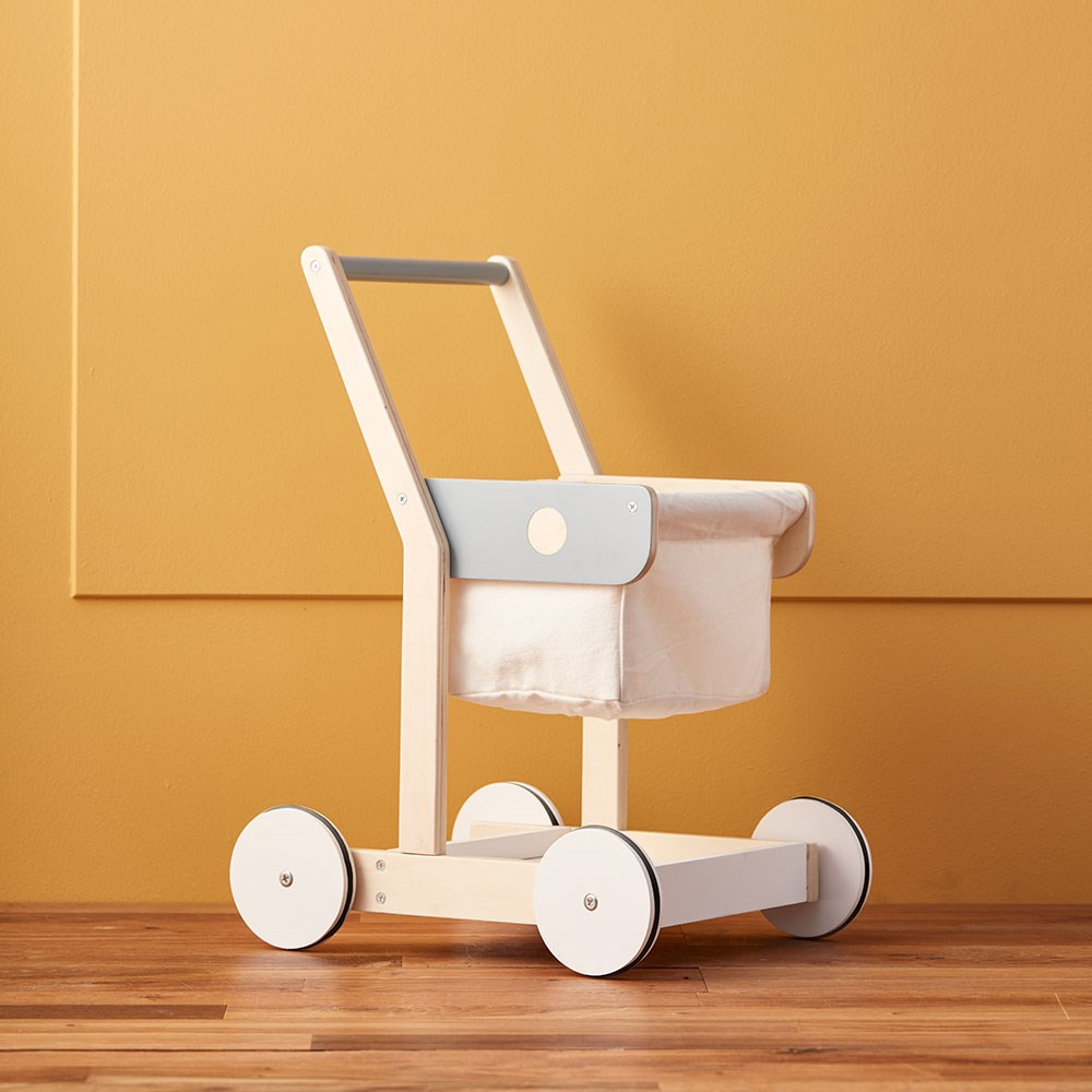 Childrens Wooden Toy Shopping Trolley