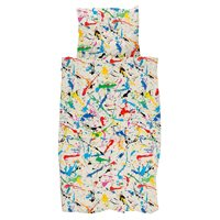 Snurk Childrens Paint Splatter Duvet Bedding Set
