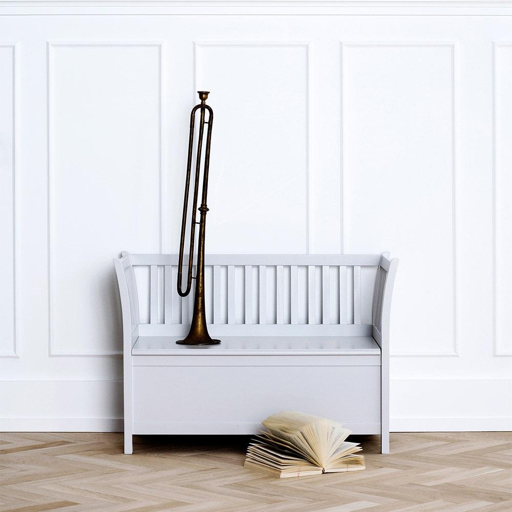Kids Small Storage Bench In Grey Jpg