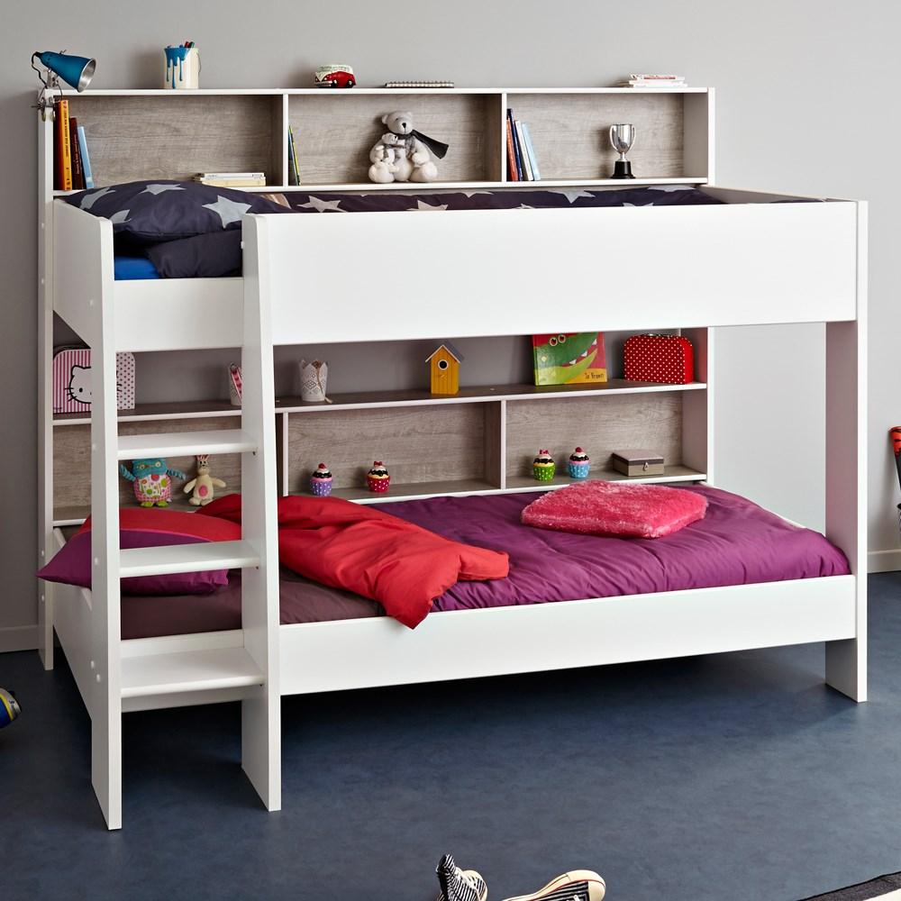 Parisot Tam Tam Childrens Bunk Bed In White Loft Grey Kids