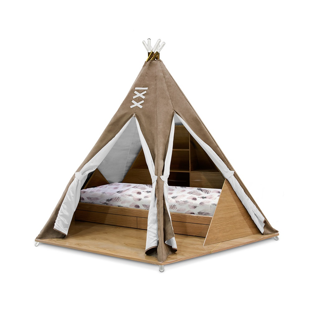 Luxury Childrens Teepee Tent Bed With Toy Storage Circu