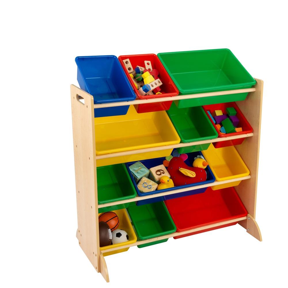 kids primary storage bin unit boys bedroom furniture cuckooland
