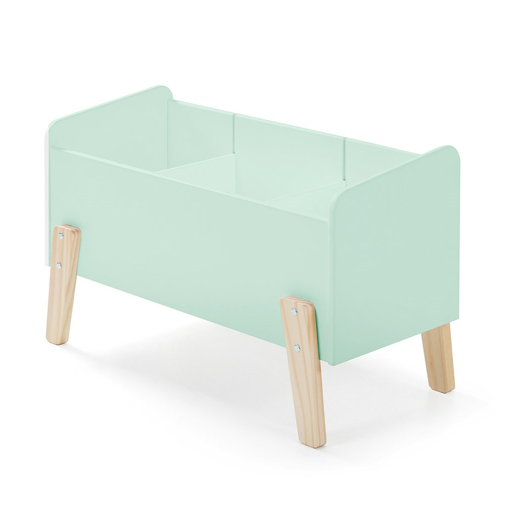Kiddy Wooden Kids Toy Box In Mint Green