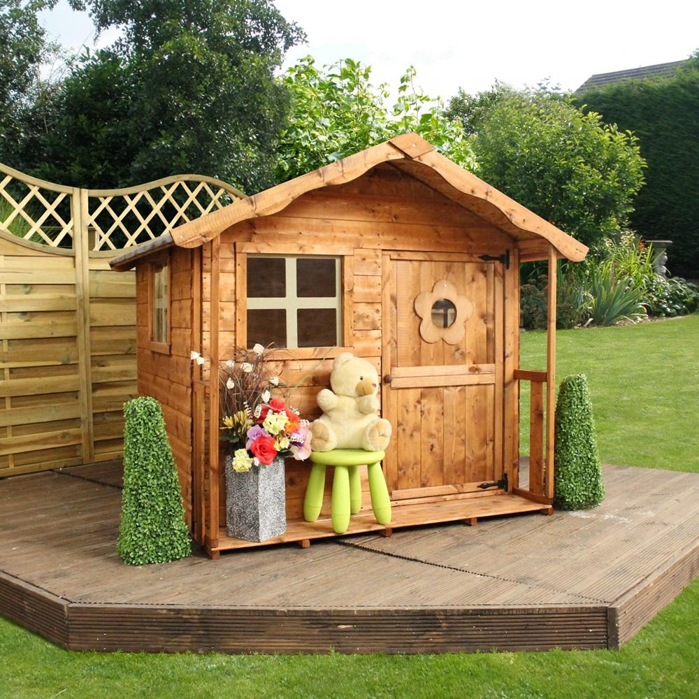 Mercia kids tulip wooden playhouse mercia garden for Kids wooden play house