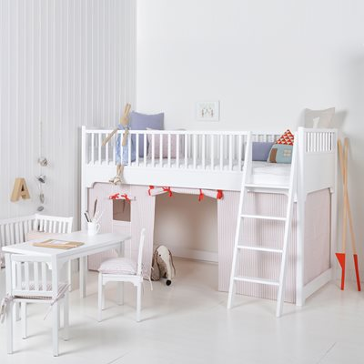 SEASIDE CHILDREN'S LUXURY LOW LOFT BED in White