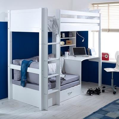 Flexa Nordic Kids High Sleeper 3 In White