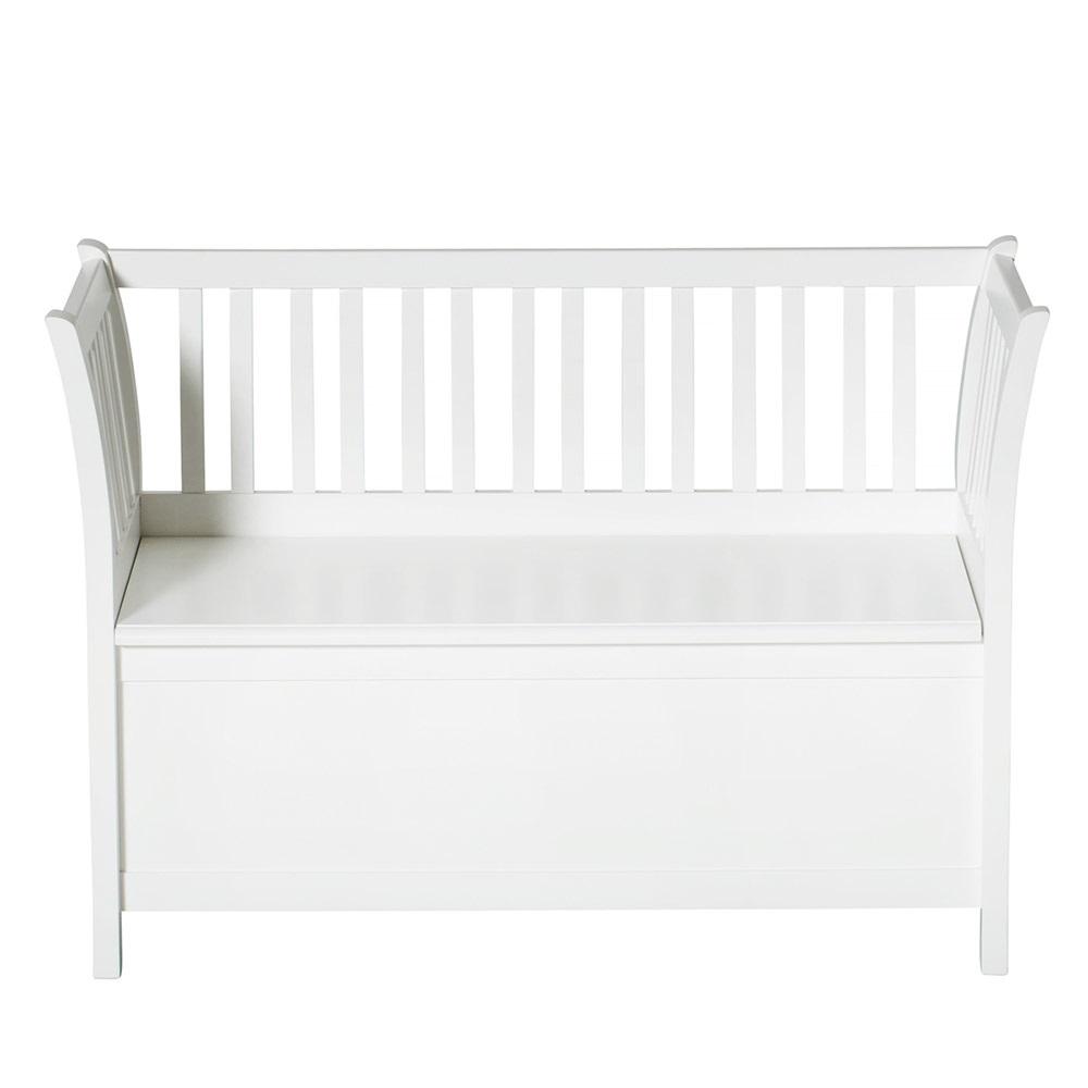 kids luxury storage bench in white kids furniture cuckooland. Black Bedroom Furniture Sets. Home Design Ideas