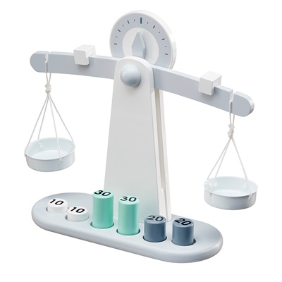 Children's Wooden Toy Balancing Weighing Scales