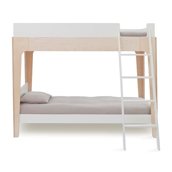 Oeuf Kids Perch Bunk Bed in White and Birch