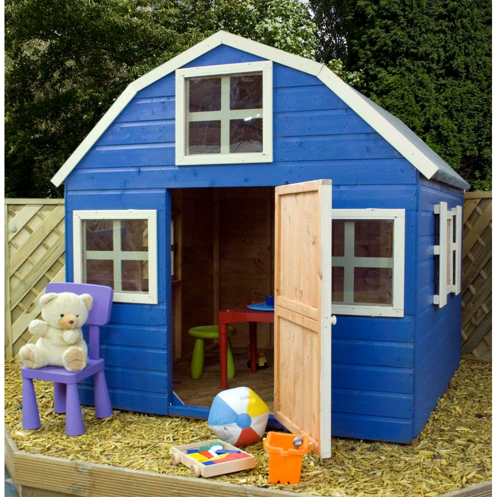 Kids dutch barn style wooden playhouse kids outdoor play - Maison de jardin enfant bois ...