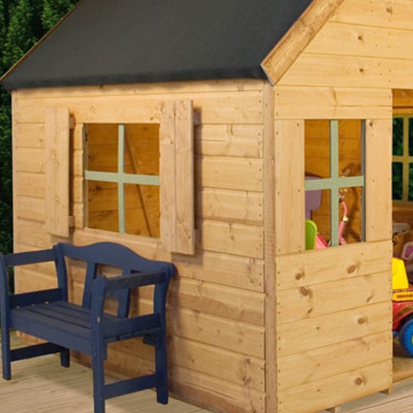 Kids dutch barn style wooden playhouse ebay for Dutch style barn