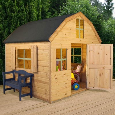 KIDS DUTCH BARN STYLE WOODEN PLAYHOUSE