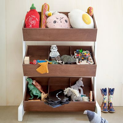 Oeuf Kids Toy Store in White & Walnut