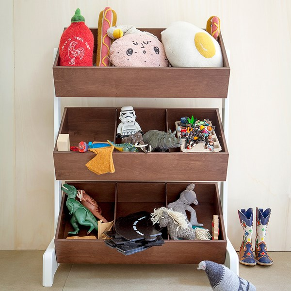 Oeuf Kids Toy Store in White and Walnut