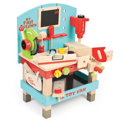 LE TOY VAN MY FIRST TOOL BENCH with All Toys Included