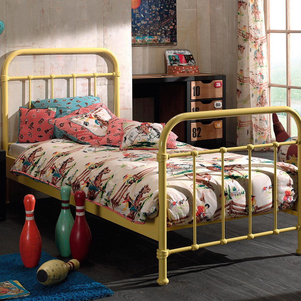 New York Metal Kids Bed In Yellow Kids Beds Cuckooland
