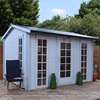 Kielder Log Cabin by Mercia in Light Blue