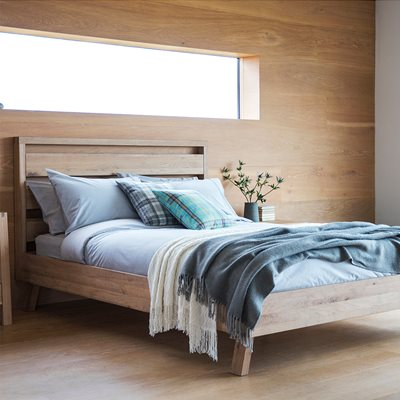 KIELDER OAK BED FRAME by Frank Hudson