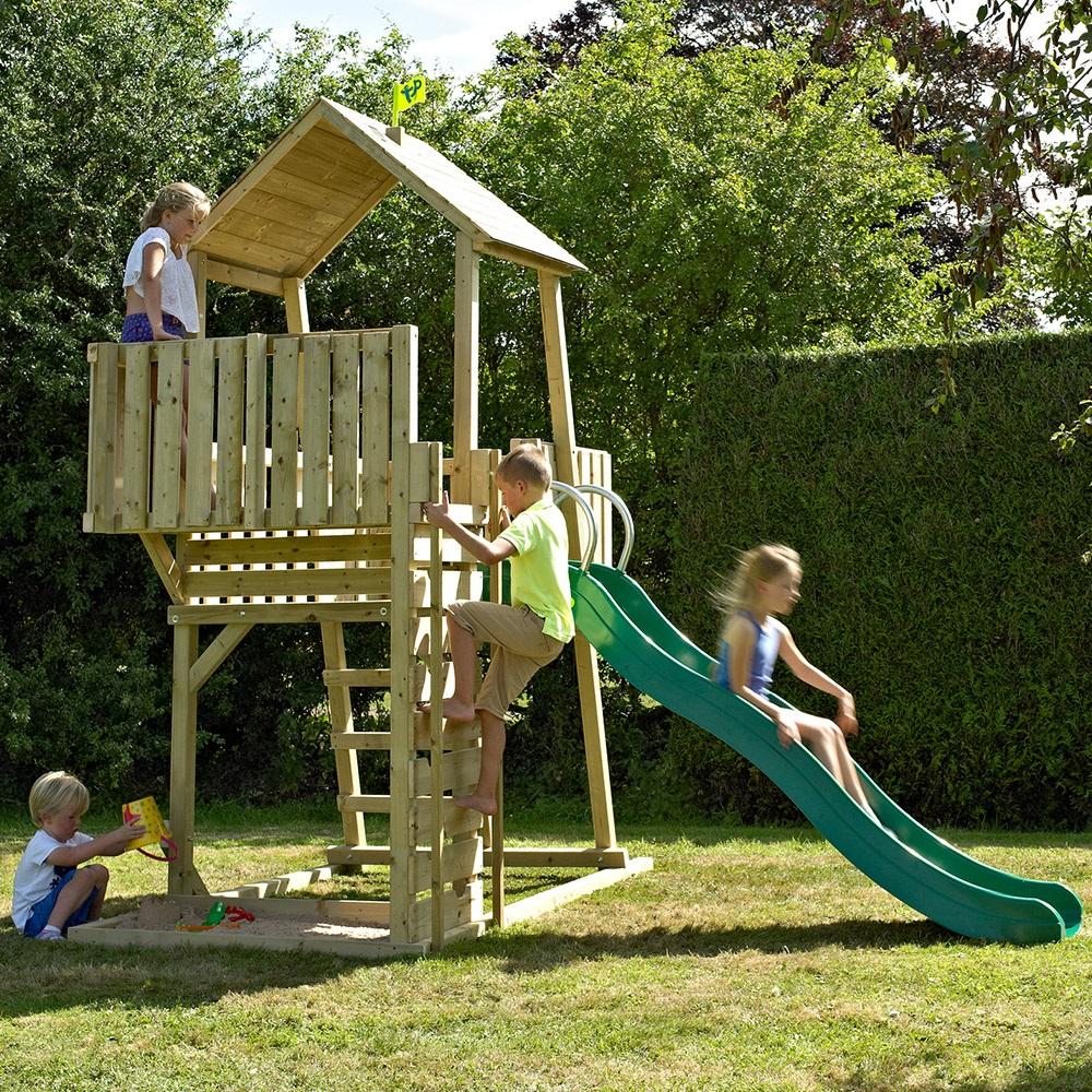 Tp Toys Children\'s Kingswood Normandy Wooden Climbing Frame & Slide ...