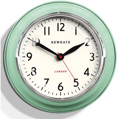 NEWGATE COOKHOUSE Wall Clock in Green