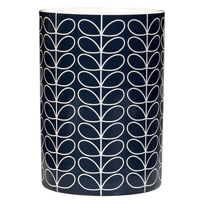 ORLA KIELY CERAMIC UTENSIL POT in Linear Stem Slate Print