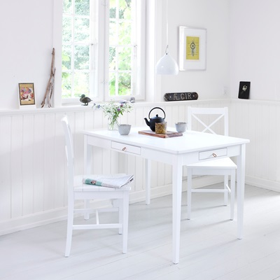 SMALL OFFICE & DINING TABLE in White