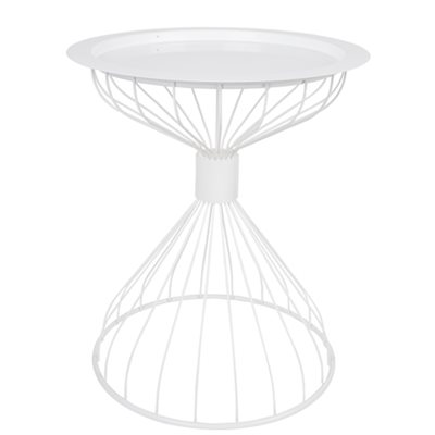 ZUIVER KELLY SIDE TABLE with Tray in Contemporary White