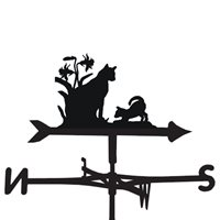WEATHERVANE in Kittens Design  Medium (Cottage)