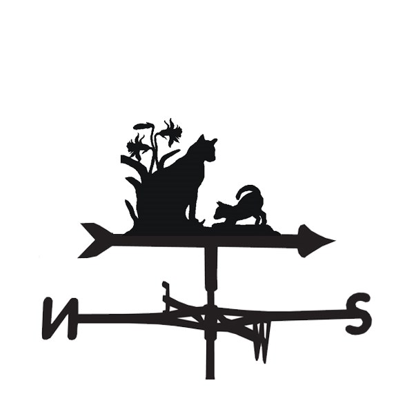 Weathervanes in Cat & Kitten Design