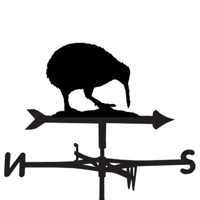 WEATHERVANE in Kiwi Bird Design