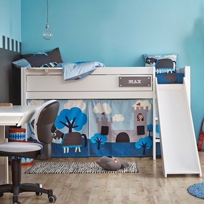 KNIGHT BOYS CABIN BED with Slide