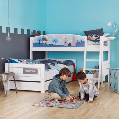 KNIGHT CORNER KIDS BUNK BED for boys