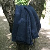 Throw Knitted Blue Slate