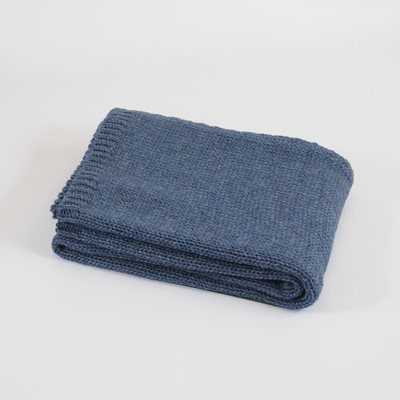 TweedMill KNITTED THROW in Blue Slate
