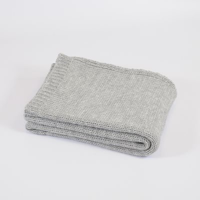 TweedMill KNITTED THROW in Grey