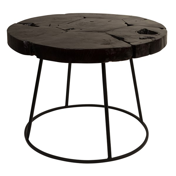 Black Teak Side Table