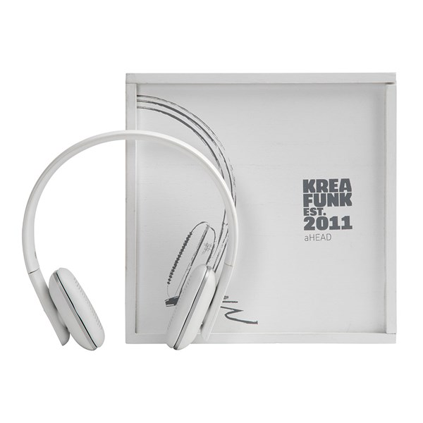 aHead Bluetooth Headphones White Edition