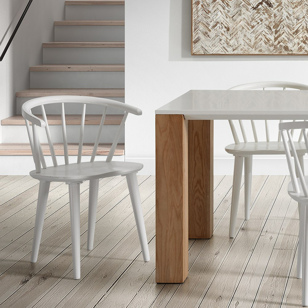 Surprising Pair Of Krise Spindle Back Dining Chairs In White Alphanode Cool Chair Designs And Ideas Alphanodeonline