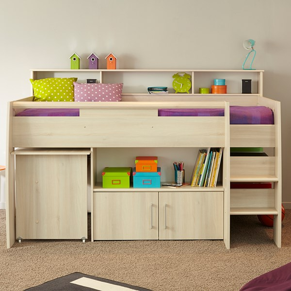 Parisot Kurt Cabin Bed with Desk and Storage
