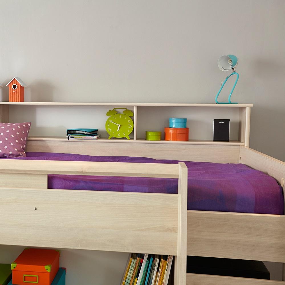 Parisot kurt midsleeper cabin bed with desk and storage kids avenue cuckooland - Www parisot com ...