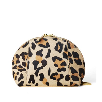 GILLAN Premium Cosmetic Bag Phone Charger in Leopard