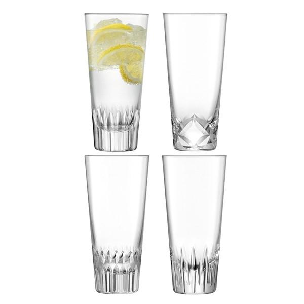 LSA International Tatra Mixer Highball Glasses Set
