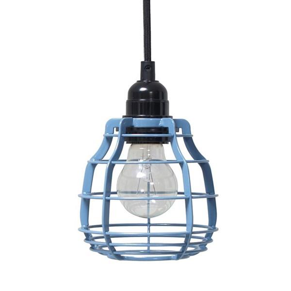 Industrial Lighting Brands: Industrial Metal Pendant Light In Blue