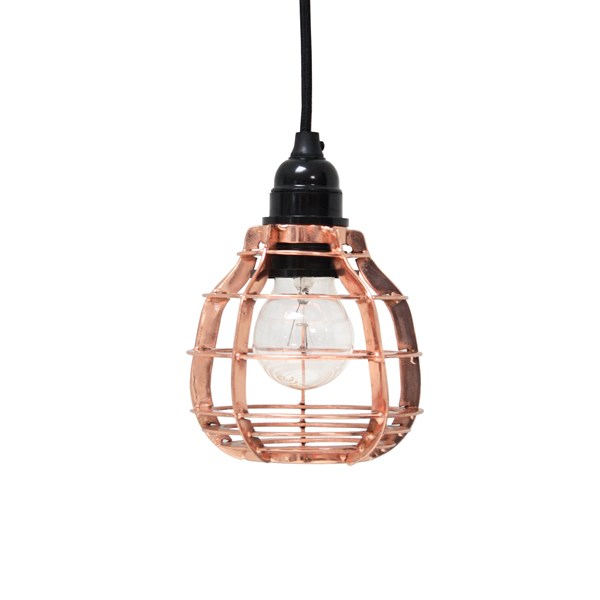Industrial Metal Pendant Light Shade in Copper